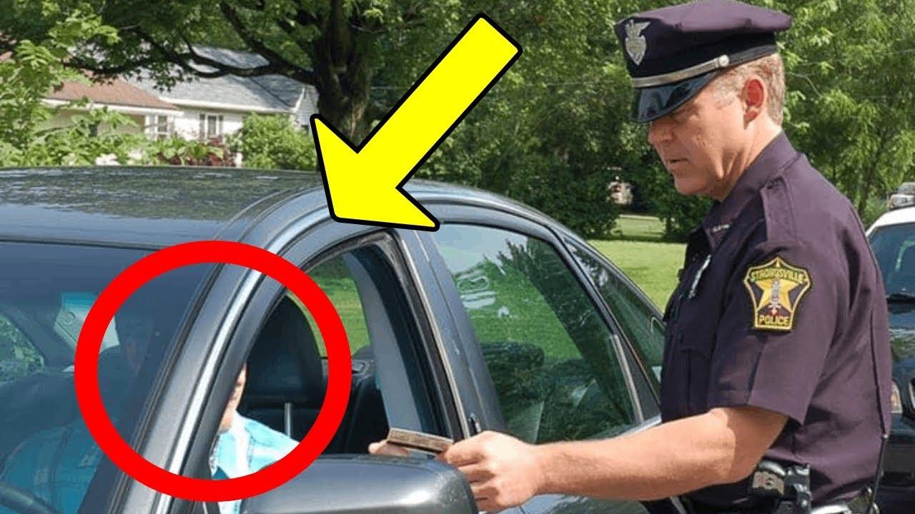 fucks over Cop car girl