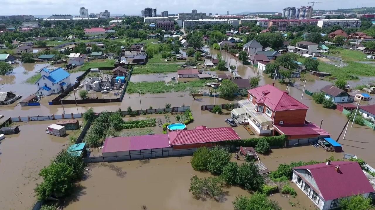Уссурийск.Наводнение в районе ул.Пушкина. 8 августа 2017г