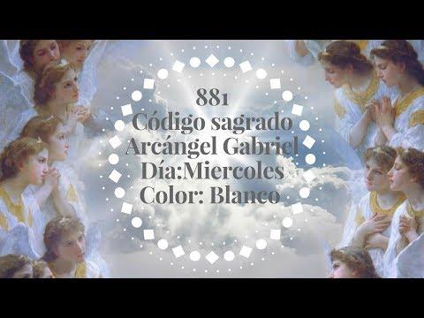 💟👼💫881 Código sagrado del Arcángel Grabiel el mensajero de Dios . Día Miércoles, color blanco.