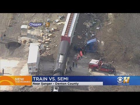 Train Crashes Into Big Rig In Denton County