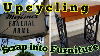 Upcycling Scrap Metal into Furniture.