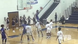 "INSANE DUNK! High School Kid JUMPS OVER 6'7"" ..."