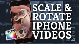 Final Cut Pro X Tutorial: Rotating & Scaling iPhone & other Video Footage + Split Screen Creation screenshot 4