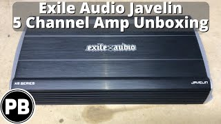 Video Exile Audio Javelin 5 Channel Amp Unboxing | XM100.5 download MP3, 3GP, MP4, WEBM, AVI, FLV Oktober 2018