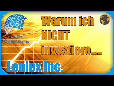 Leniex Inc. | Warum ich nicht in Leniex Corporation investiere