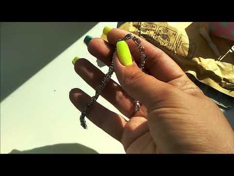 Посылка с Ярмарки Мастеров - 1 - Серебряный браслет с турмалинами