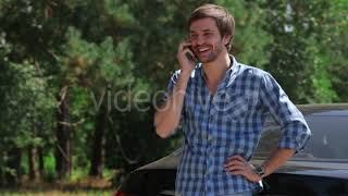 Man Listening to Music While Driving a Car - (lifestyle) Stock Footage   Mega Pack +40 items