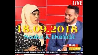 SNTV Saaka Iyo Dunida 18.09.2018