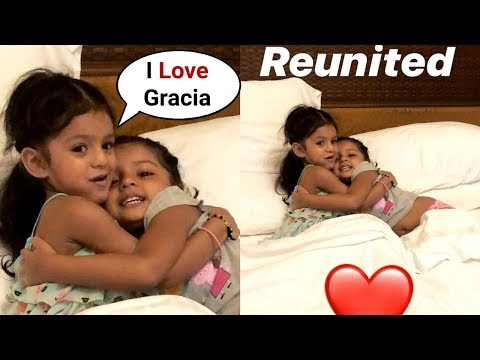 Harbhajan Singh Daughter Hinaya Showing Her Love To Suresh Raina Daughter Gracia Raina