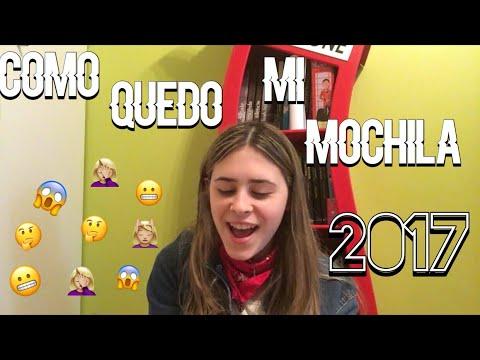 COMO QUEDO MI MOCHILA 2017