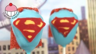 Make Superman Man of Steel Cake Pops! - A Cupcake Addiction How To Superhero Tutorial