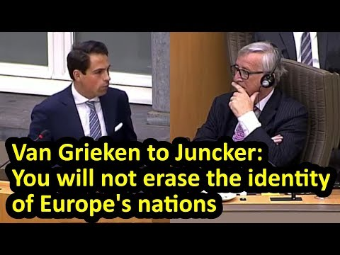 EU president Juncker visits Flemish parliament - and gets an earful from leader of Vlaams Belang