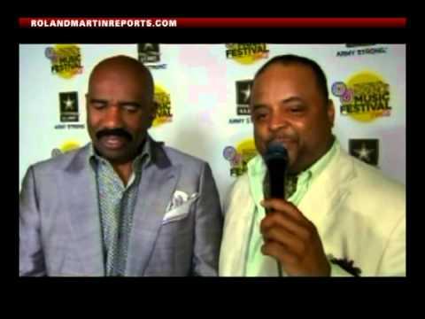 WASHINGTON WATCH: Roland Martin Talks With Steve Harvey At The Essence Music Festival