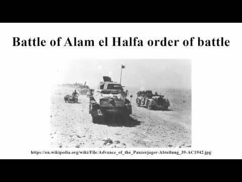 Battle of Alam el Halfa order of battle