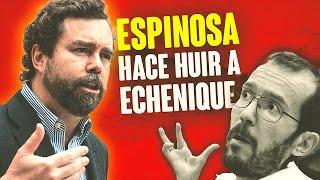 Iván Espinosa hace huir a Echenique del Congreso