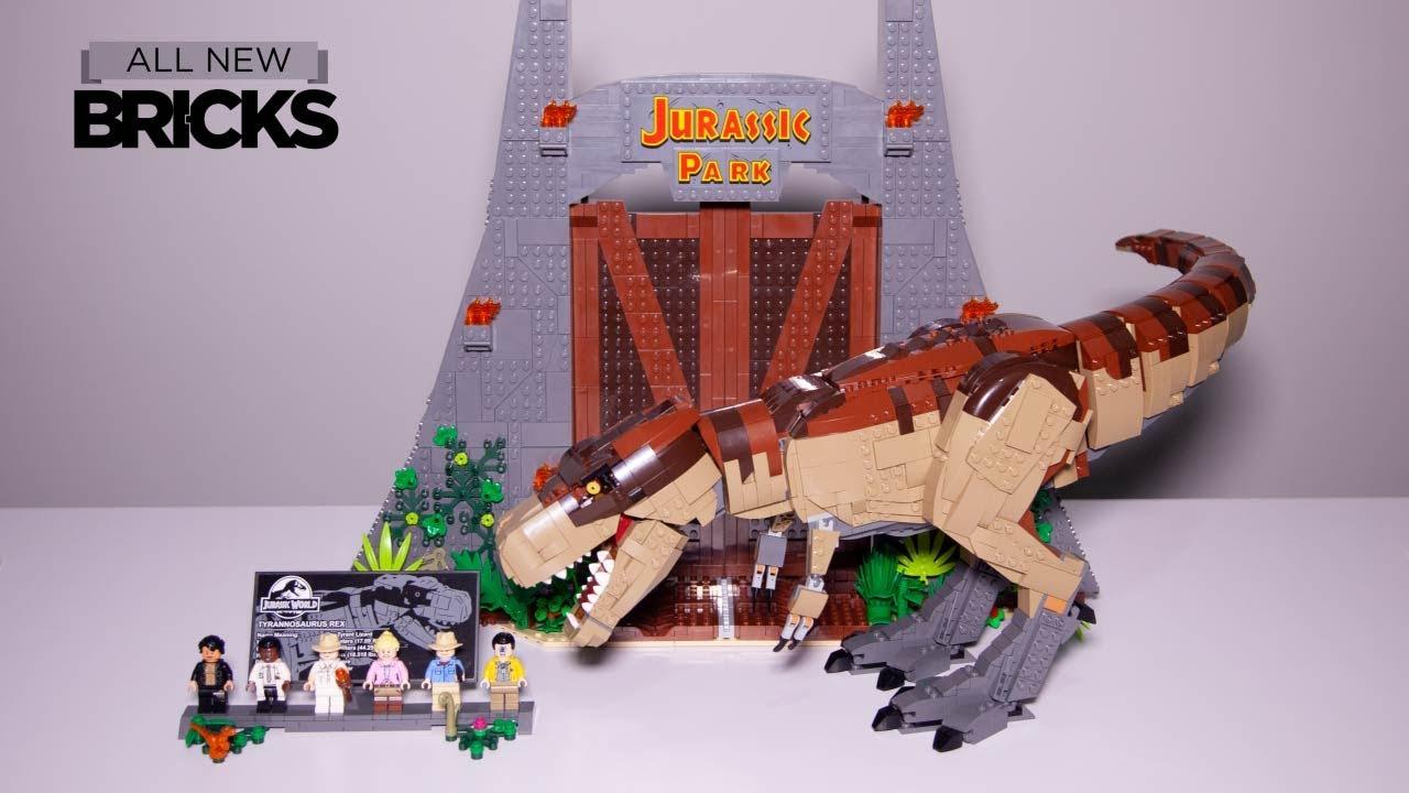 Lego Jurassic World 75936 Jurassic Park: T. rex Rampage Speed Build - YouTube