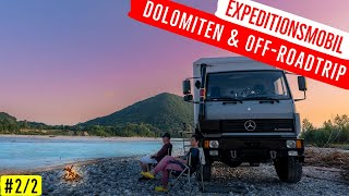Hiking and mountain biĸing 💪on Lake Garda and backcountry in Expedition truck 4x4 Offroad Camper