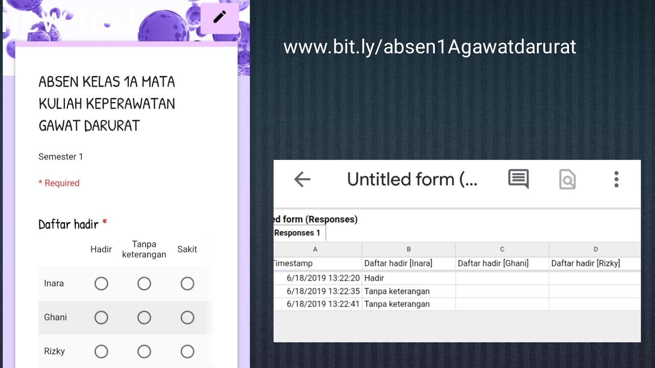 Cara Membuat Absen Online Dengan Google Form Pengolahan Hasil Link Gampang Diingat Youtube