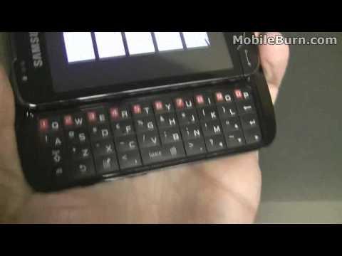 Samsung Omnia Pro B7610 - live first look