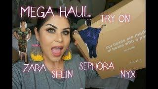 MEGA HAUL TRY ON,compras compulsivas ZARA ,SHEIN,SEPHORA,