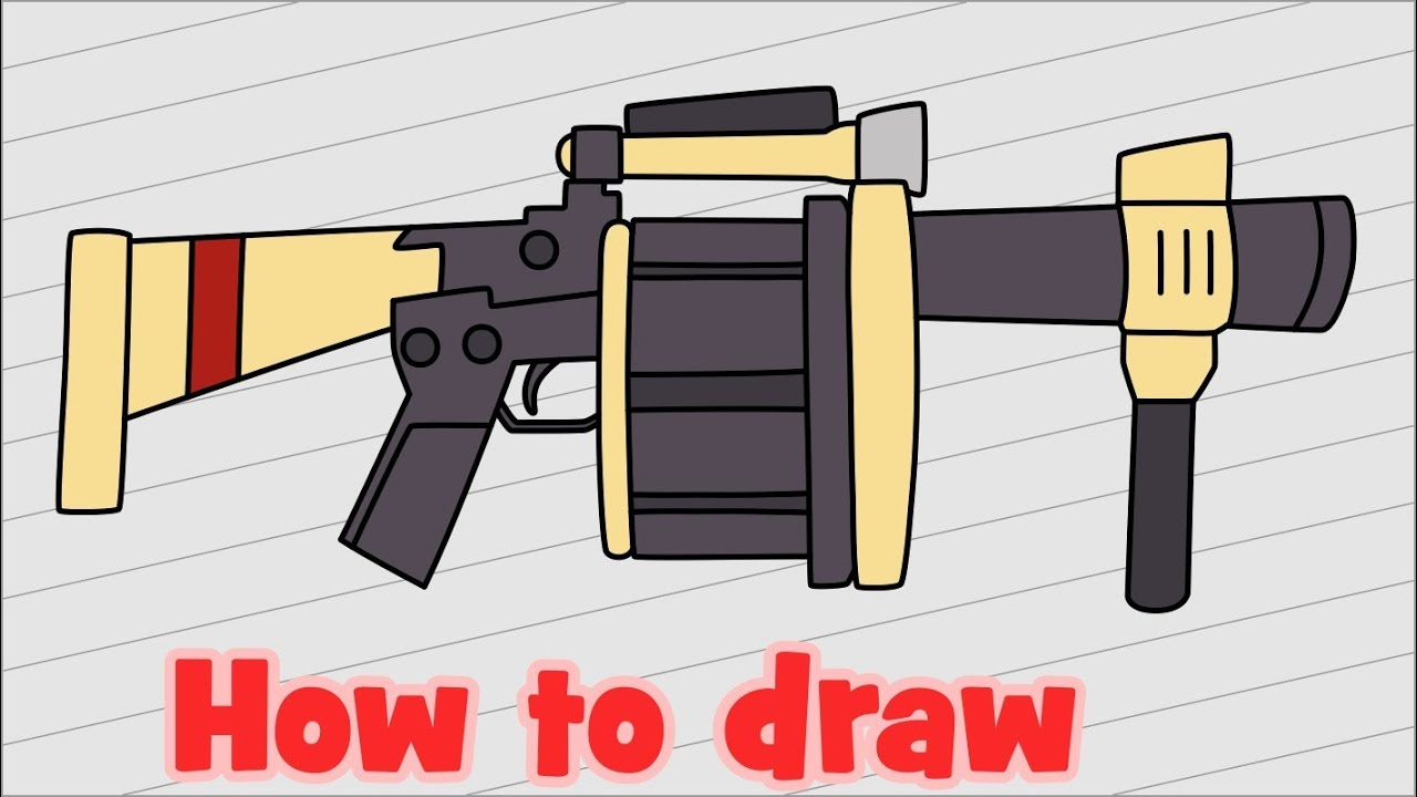 fortnite how to draw rocket launcher
