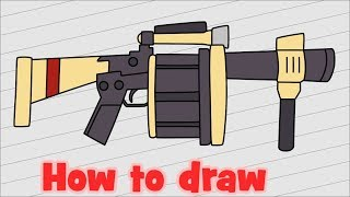 How to draw Fortnite Weapon - Grenade Launcher