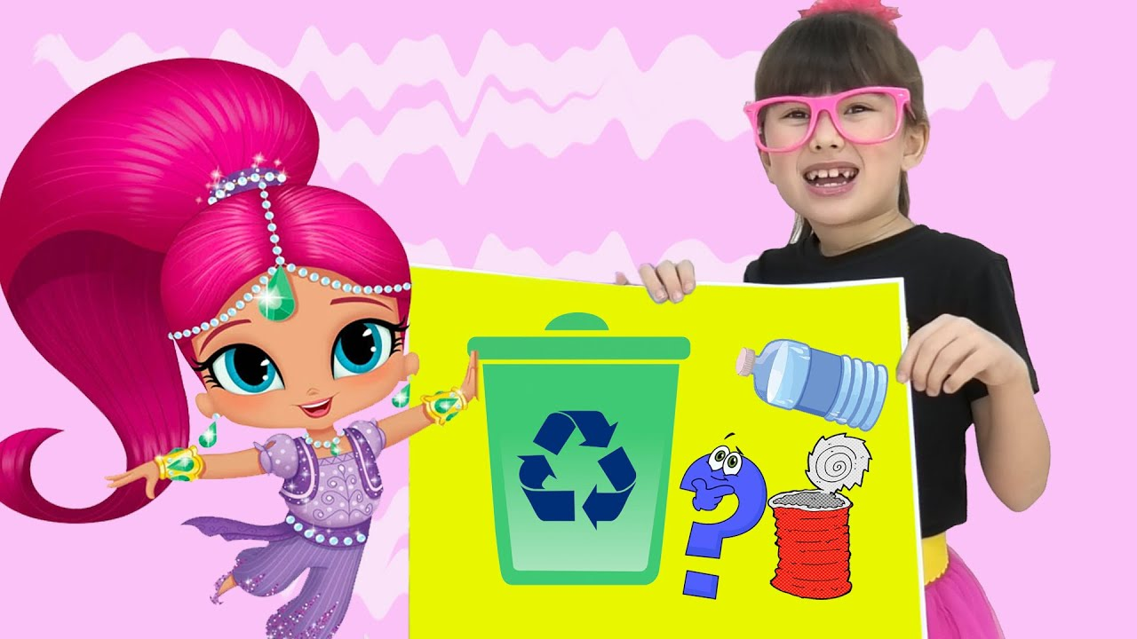 Abby Hatcher and Shimmer and Shine at school - educational challenge.  stories for kids
