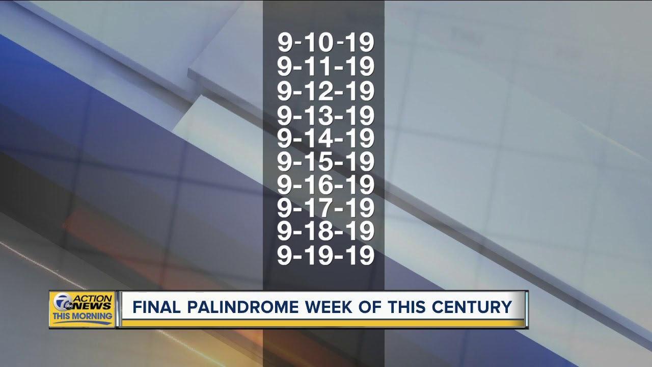 Forwards or backwards, it's all the same. Welcome to Palindrome Week
