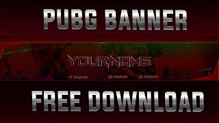 *Free* PUBG YOUTUBE BANNER TEMPLATES[PHOTOSHOP FREE TEMPLATE]