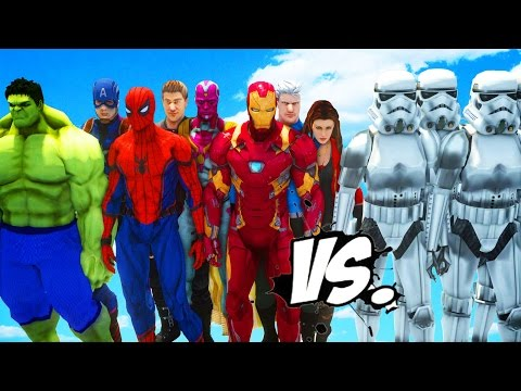 THE AVENGERS VS STORMTROOPERS ARMY - EPIC BATTLE