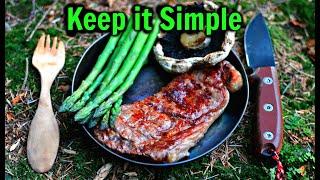 Bushcraft Camp | Keep it Simple | Hammock on the Ground