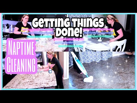 ULTIMATE CLEAN WITH ME 2019 /CLEANING THE KITCHEN & TILE FLOORS DURING NAP TIME