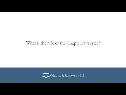What is the role of the Chapter 13 trustee?