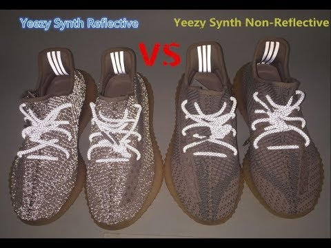 reflective and non reflective yeezy
