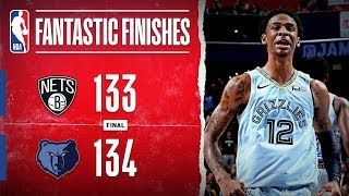 DRAMATIC Finish in Memphis Between Grizzlies And Nets | Oct. 27, 2019
