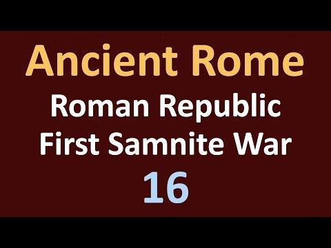 Ancient Rome History - First Samnite War - 16