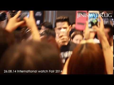 【Fancam】Mario: มาริโอ้ งาน Watch Fair 2014 (ช่วงสัมภาษณ์/ขากลับ)