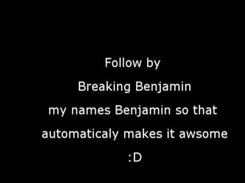 Breaking Benjamin follow me with lyrics
