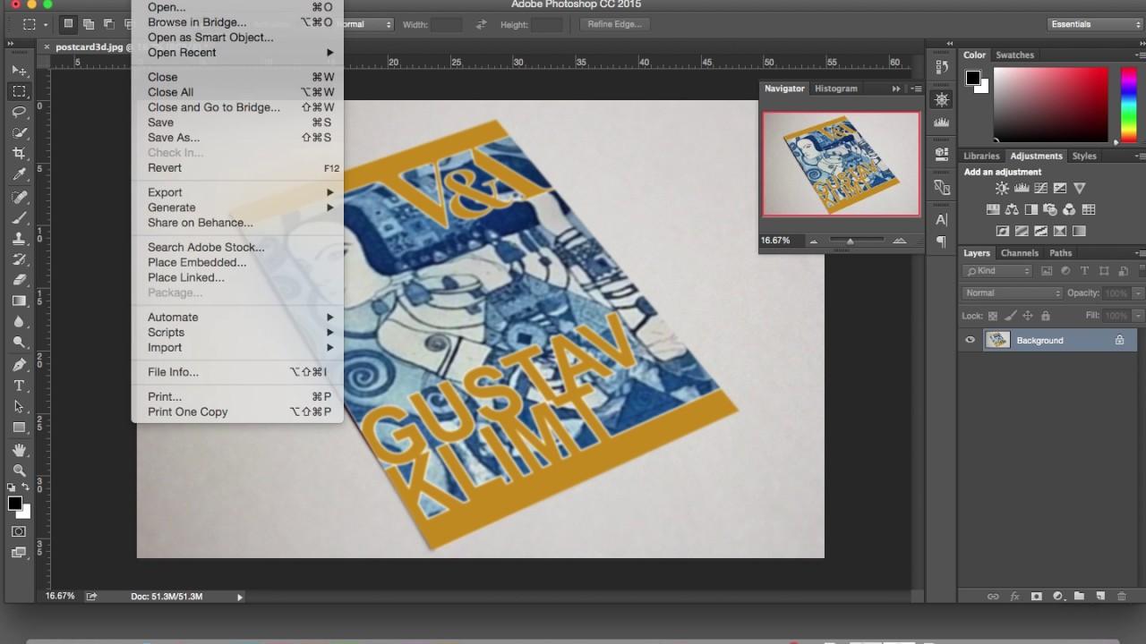 Adobe Photoshop CC - 3d Postcard