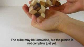 Snake Cube 3d Wooden Puzzle Brain Teaser