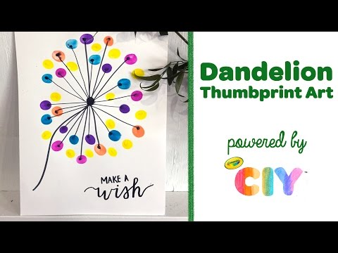 Crayola CIY: Create It Yourself - Dandelion DIY Thumbprint Art