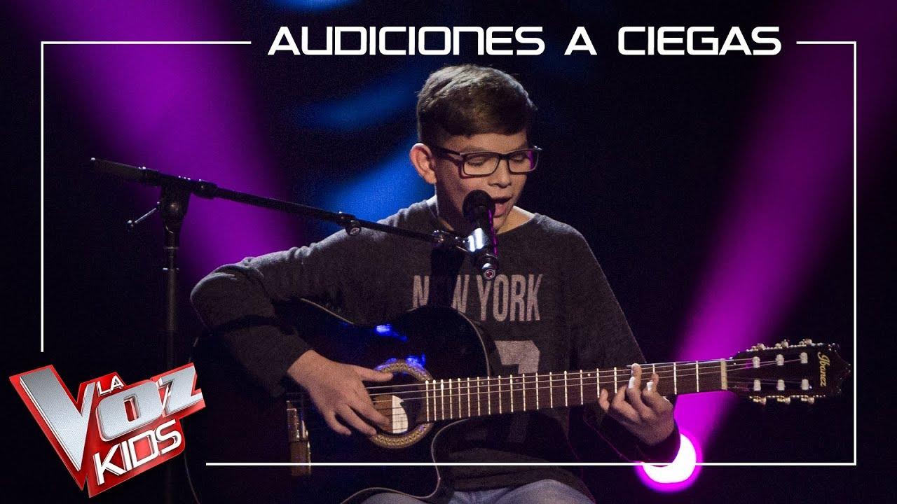 Salvador Bermúdez canta 'Al alba' | Audiciones a ciegas | La Voz Kids Antena 3 2019