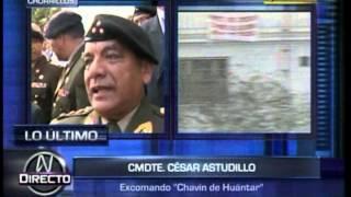 TV-8 (CANAL N) - ENTREVISTA A GRAL EP CESAR ASTUDILLO, COMANDO CHAVÍN DE HUÁNTAR - 22 ABR 15
