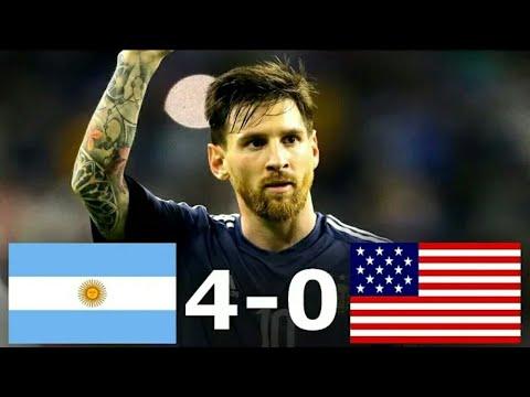 Argentina Vs USA 4-0 | All Goals & Full Highlights