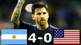 Argentina Vs USA 4-0 | AĮl Goals & Full Highlights