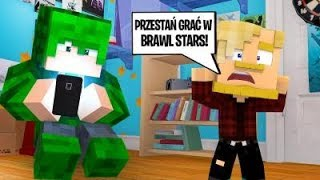 UZALEŻNIŁ SIĘ OD BRAWL STARS! SPADŁ Z MOSTU! l Minecraft BlockBurg