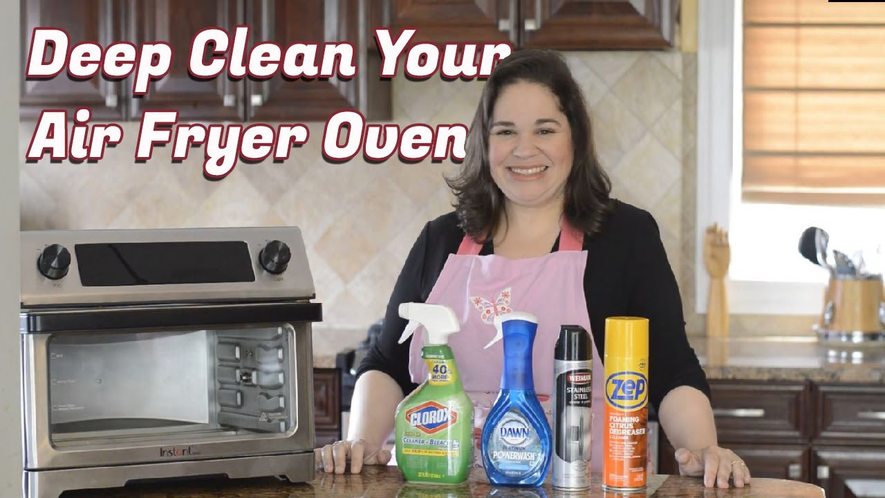 BEST Way to Clean Instant Air Fryer Oven  Tips to Deep Clean your Omni,  Omni Plus, or Vortex Plus
