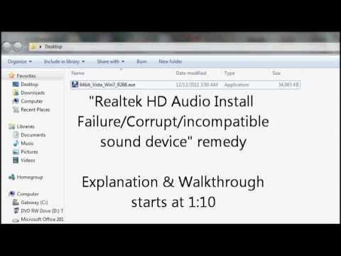 Fix Windows 10 Audio/Sound Problem- Install Realtek AC97 Drivers | FunnyCat.TV