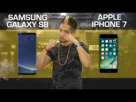 Thumbnail: Samsung Galaxy S8 vs. Apple iPhone 7 (CNET Prizefight)