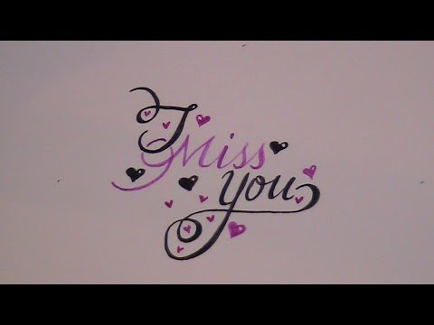 cursive fancy letters - how to write i miss you (for beginners